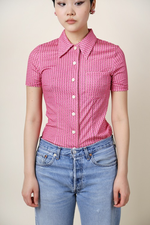 PINK MINI PRINTED SHIRT