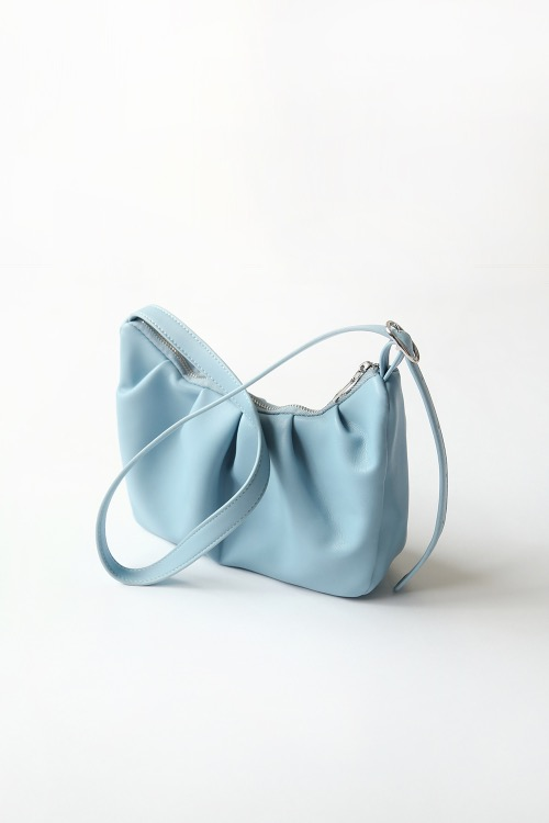 PASTEL BLUE SHIRRING BAG