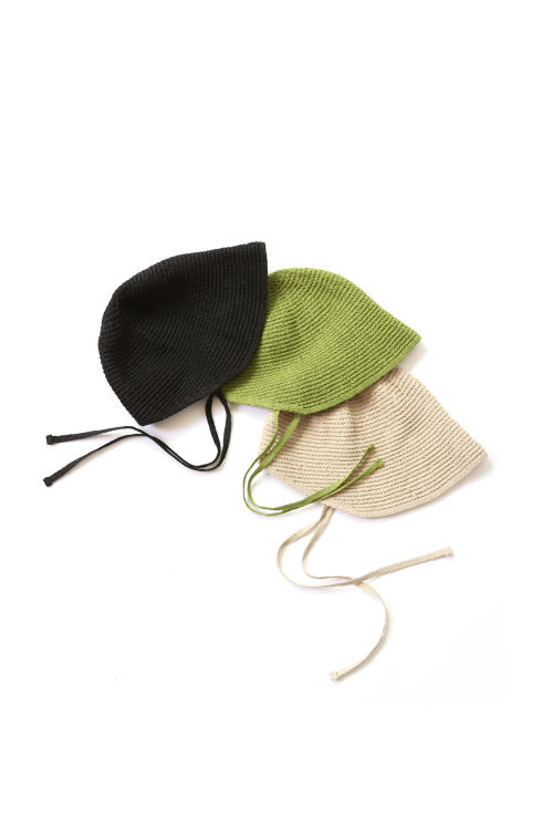 SUMMER KNIT HAT(green, beige, black)