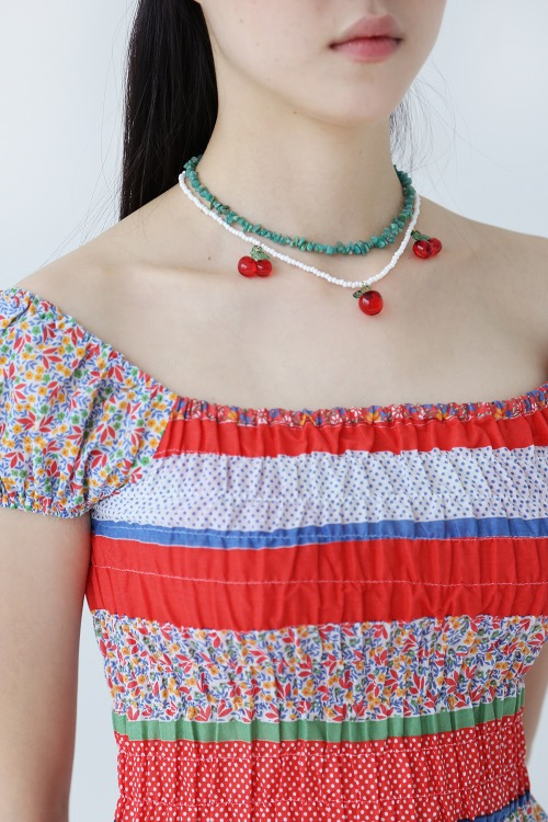 CHERRY BEADS NECKLACE