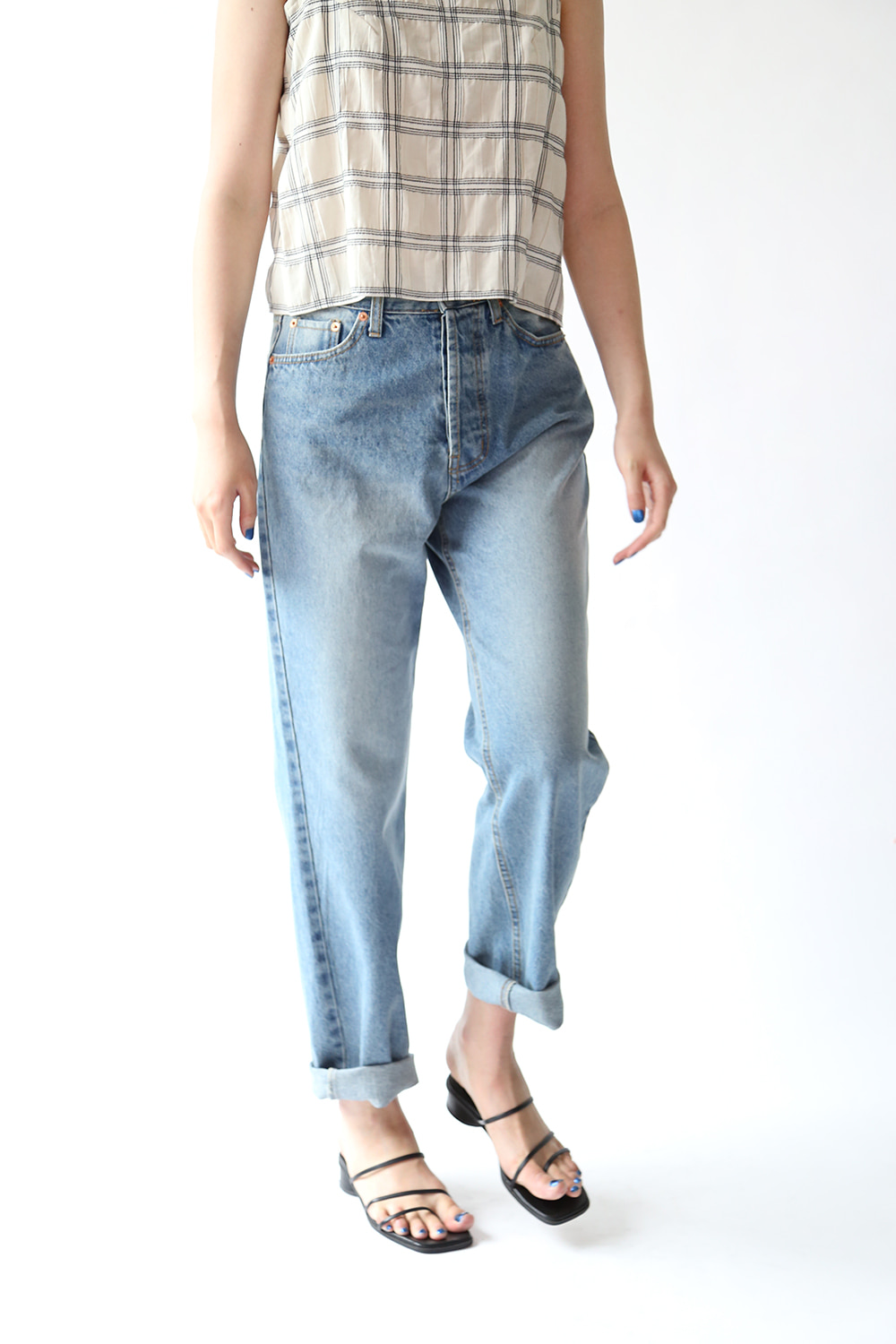 VINTAGE STYLE STRAIGHT JEANS