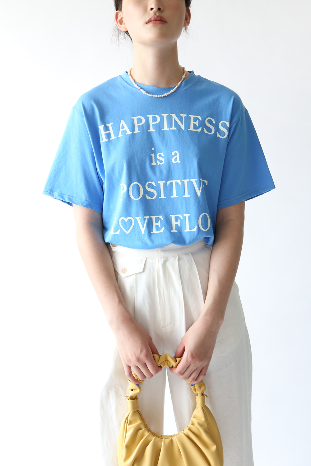 HAPPINESS T-SHIRT(white, cream, blue)