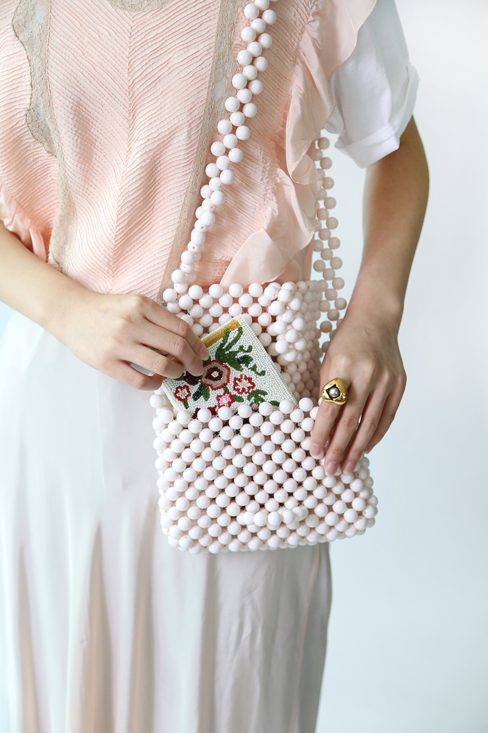 60'S STYLE BEADED BAG