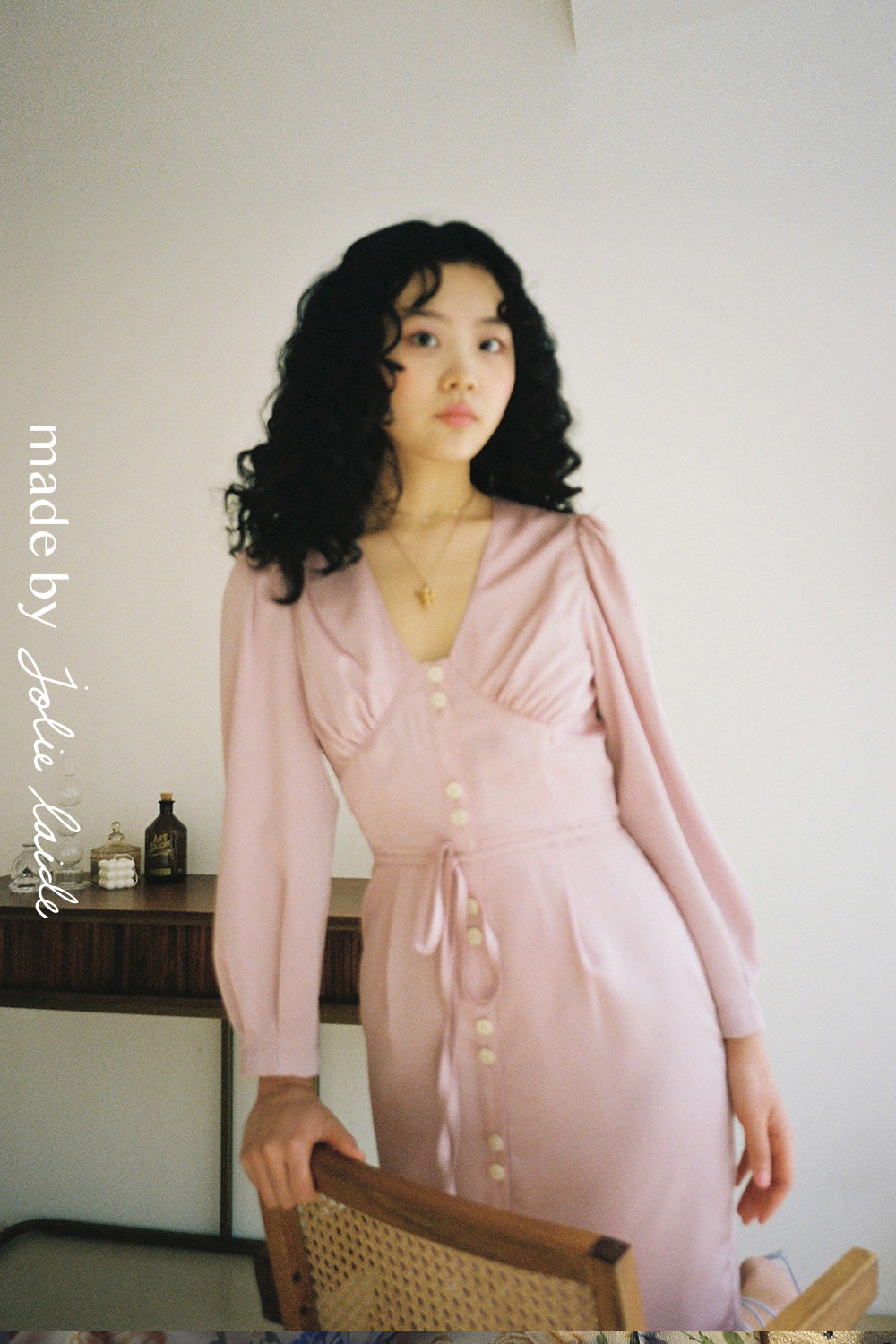 1990 LIV DRESS (Champagne Pink)